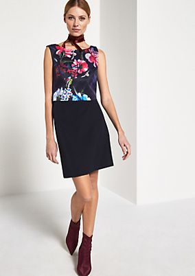 Elegant sheath dress with a decorative pattern from comma