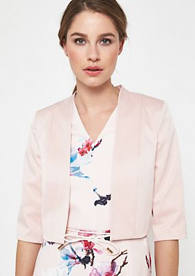 Elegant satin bolero with 3/4-length sleeves from comma