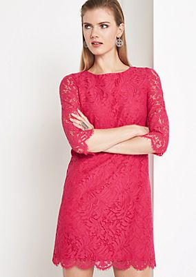Delicate lace evening dress with 3/4-length sleeves from comma