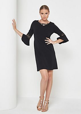 Lightweight crêpe dress with 3/4-length sleeves from comma