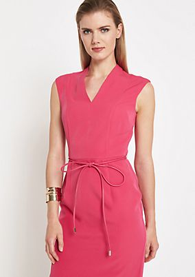 Elegant sheath dress with a thin belt from comma