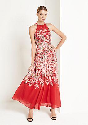 Chiffon maxi dress with a floral pattern from comma