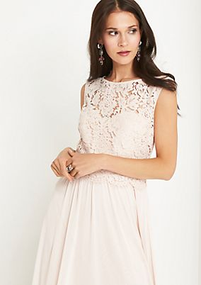 Maxi dress with delicate lace trim from comma