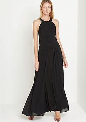 Chiffon maxi dress with fine details from comma