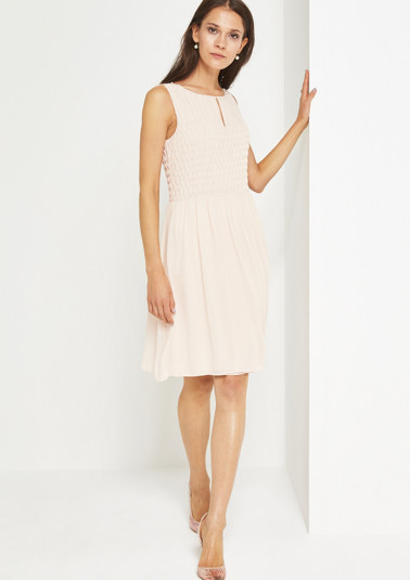 Extravagant chiffon dress with a bead trim from comma