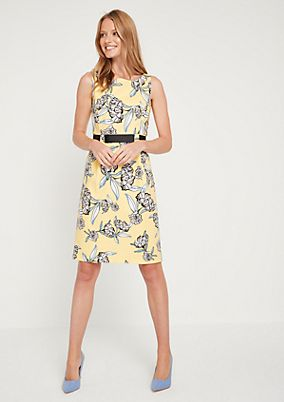 Cocktail dress with a colourful floral pattern from comma