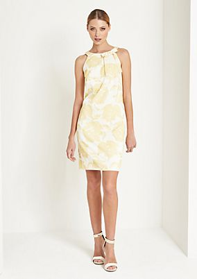 Elegant evening dress with a jacquard pattern from comma