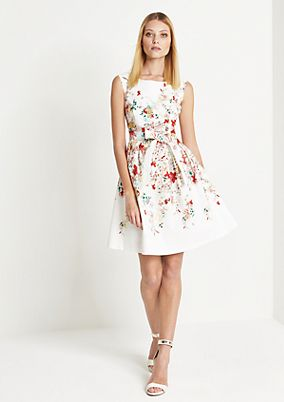 Elegant dress with a floral pattern from comma