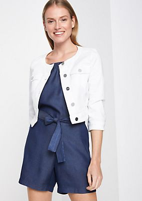 Cropped denim jacket with 3/4-length sleeves from comma