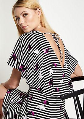 Jerseykleid mit aufwendig gestaltetem Allovermuster