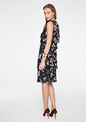 Delicate mesh dress in a tiered look from comma