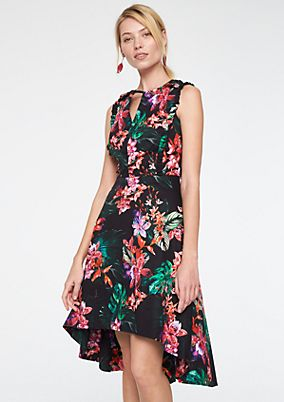 Satin dress with fine decorative ruffles from comma