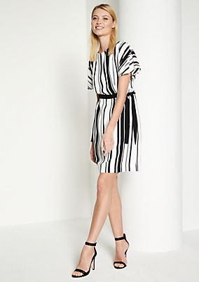Leisure dress with a striped pattern from comma