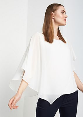 Blouse top with flowing layers from comma
