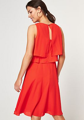 Chiffon dress in a layered look from comma