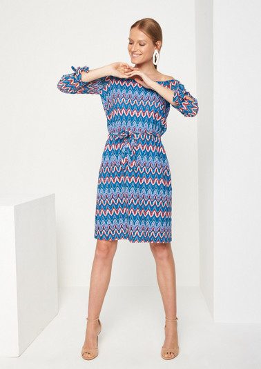 Colourful dress in summer knit yarn from comma