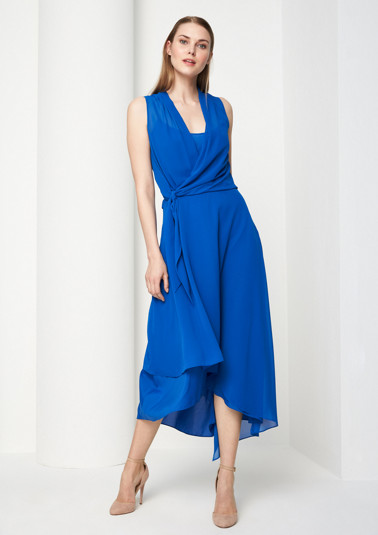 Asymmetric chiffon dress from comma