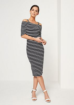Striped off shoulder dress from comma
