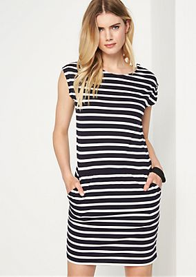 Striped jersey dress from comma