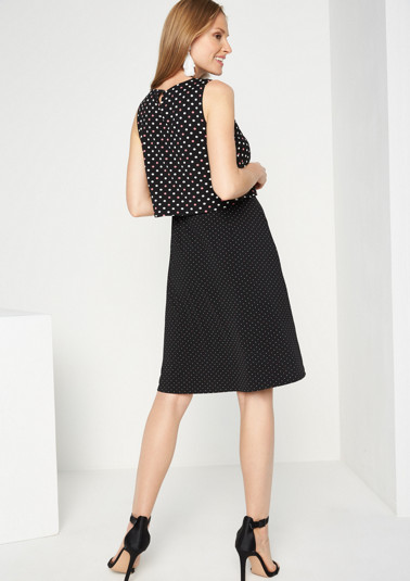 Summery jersey dress in a mix of patterns including polka dots from comma