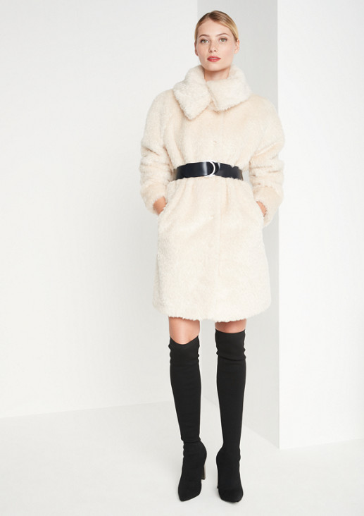 Cosy faux fur coat from comma