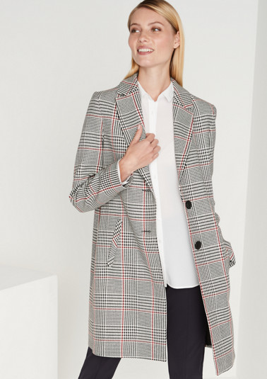 Paletot coat with a classic Prince of Wales pattern from comma