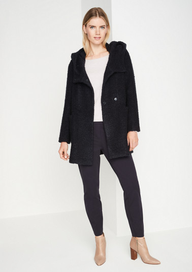 Cosy bouclé coat from comma