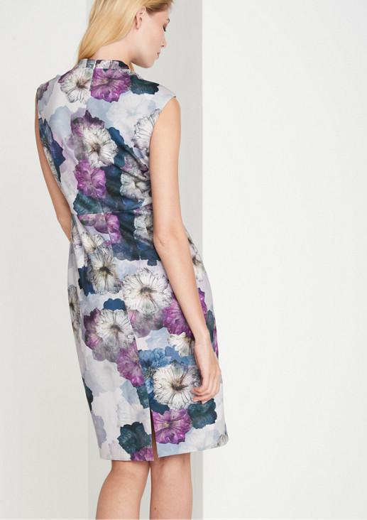 Edles Etuikleid mit farbenprächtigem Floralprint