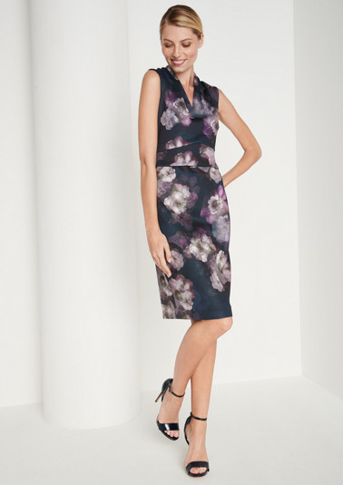 Elegant sheath dress with a floral print in vibrant colours from comma
