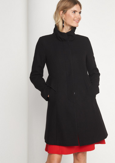 Winter coat with ruffle embellishment from comma