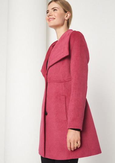 Moderner Paletot-Mantel mit hohem Stehkragen