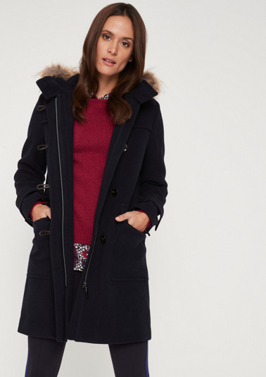 Duffle coat with a hood from comma