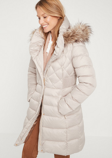Winter coat in a mix of quilted patterns from comma