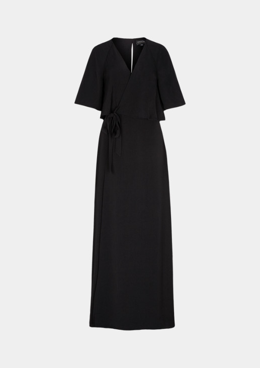 Maxi dress with a V-neckline from comma