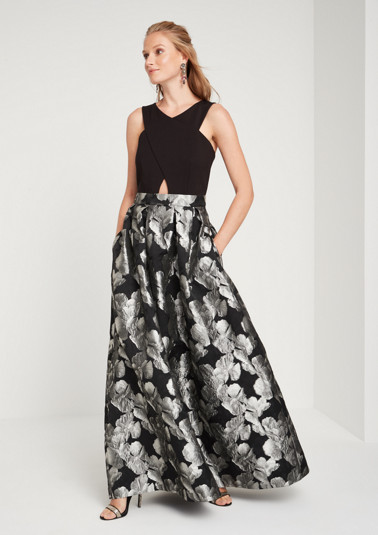 Extravagant evening dress with a jacquard skirt from comma