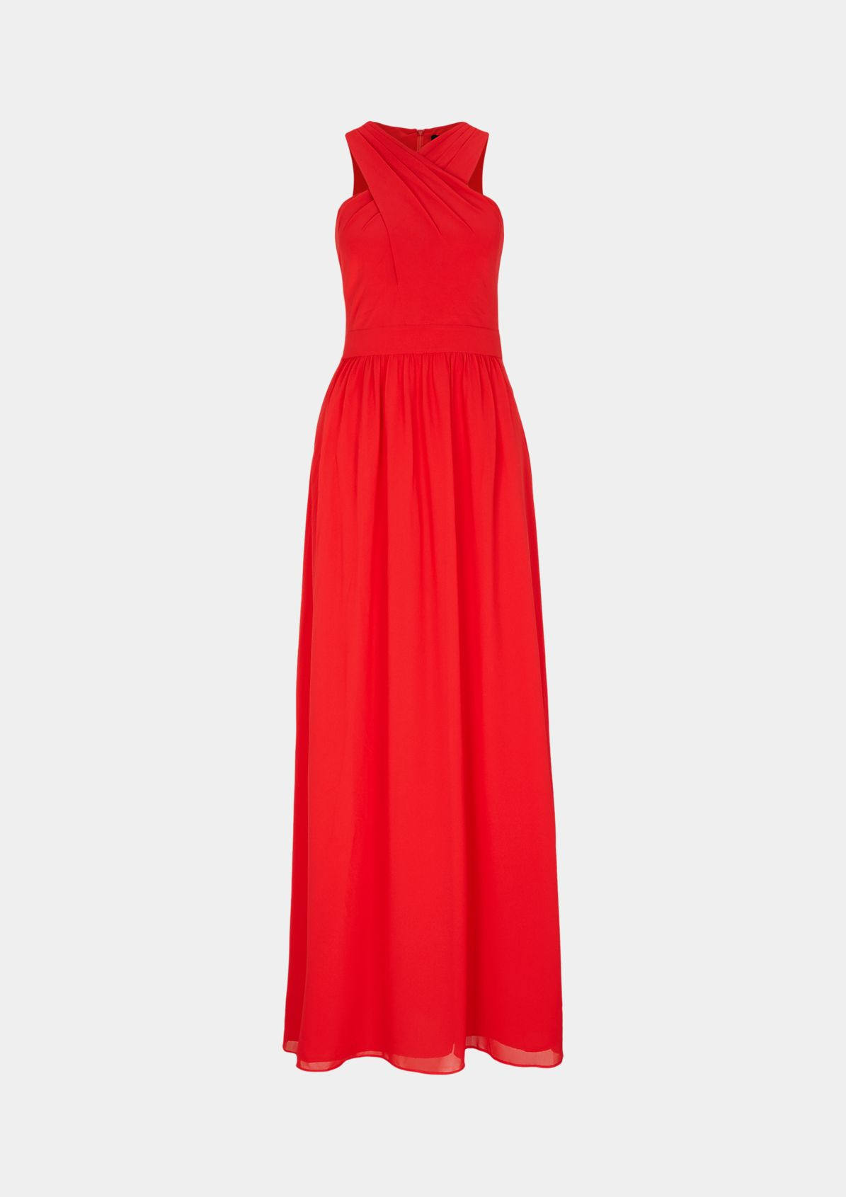 Chiffon dress with a pleated detail from comma