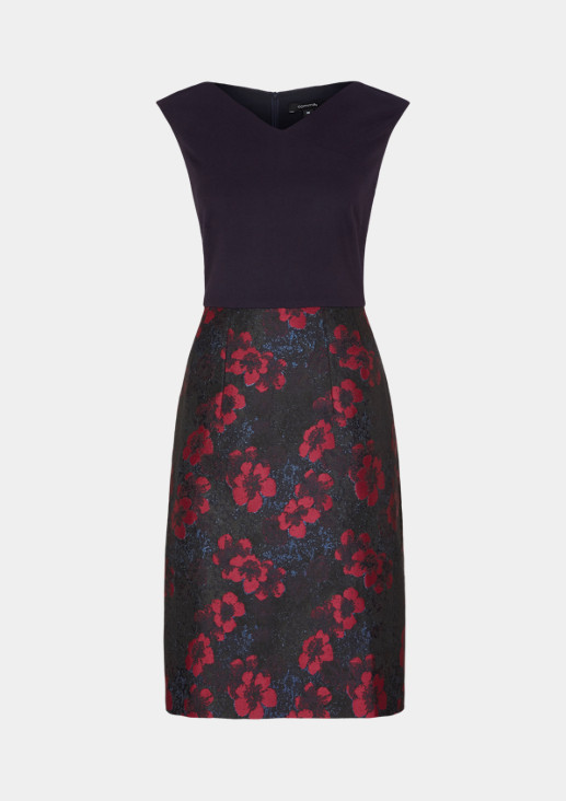 Elegant evening dress in a mix of materials from comma