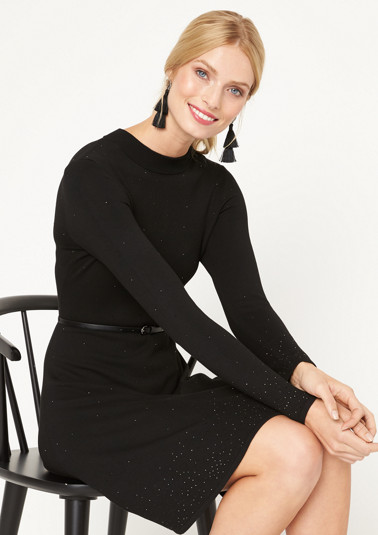 Fine knit dress with rhinestone embellishments from comma