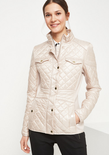 Sporty quilted jacket with diamond pattern from comma