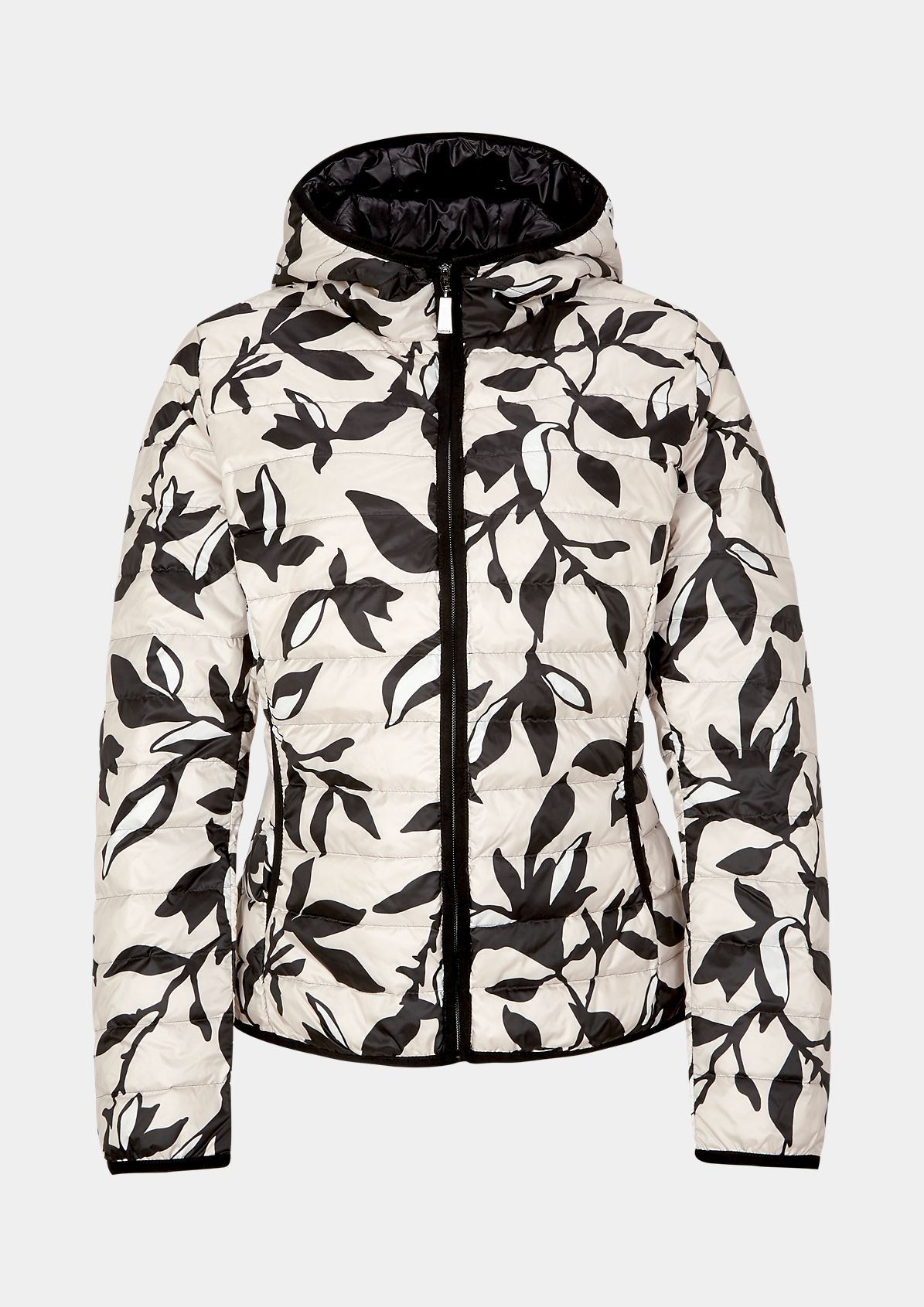 Lightweight summer down jacket with an all-over pattern from comma