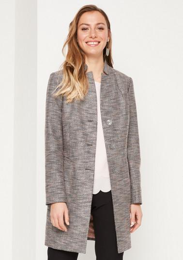 Eleganter Gehrock in Tweed-Optik