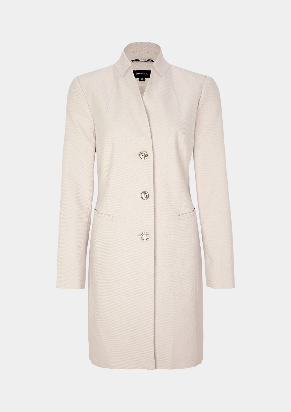 Slim-fitting frock coat in a linen look from comma