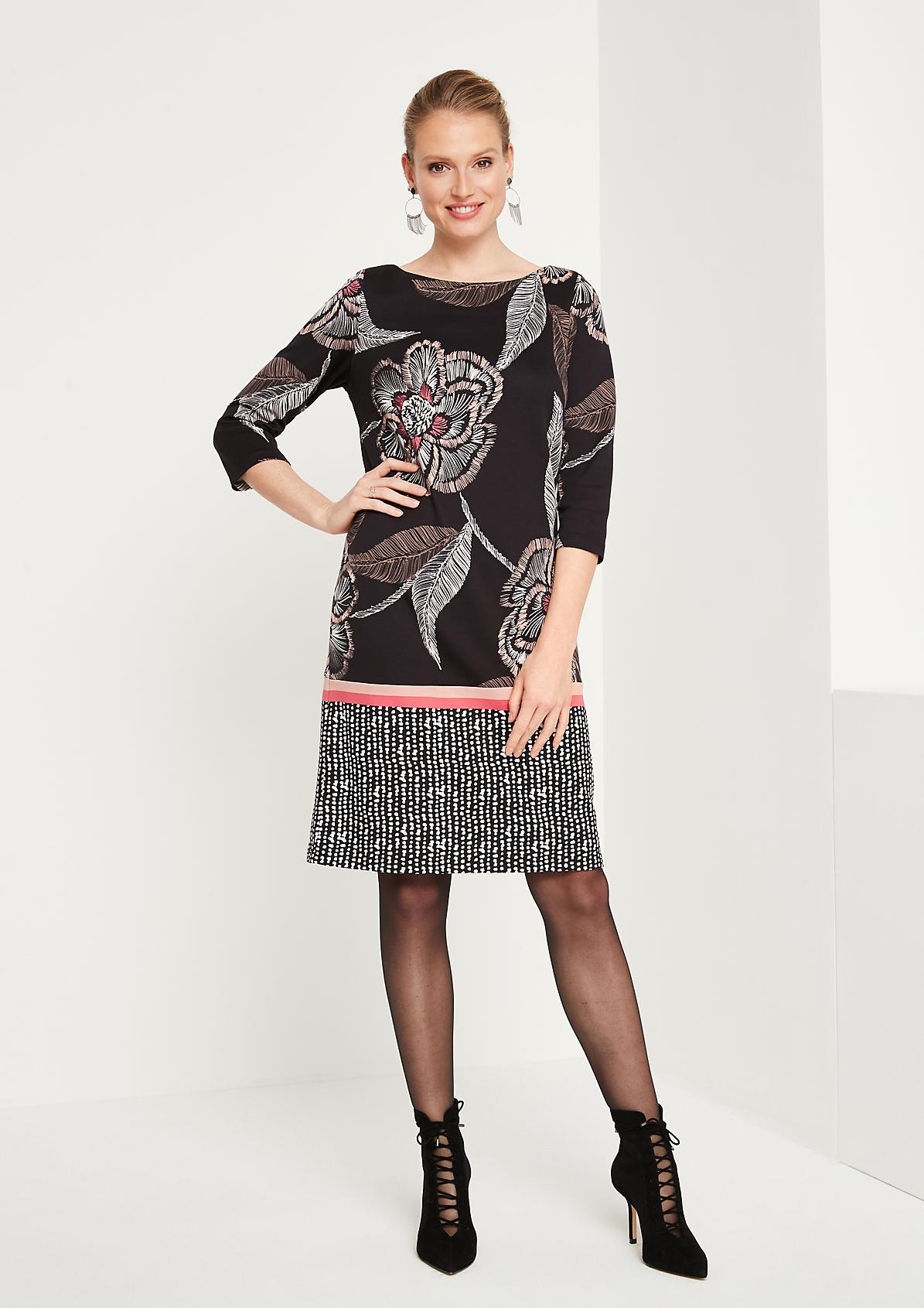 Jerseykleid mit farbenprächtigem Floral-Alloverprint