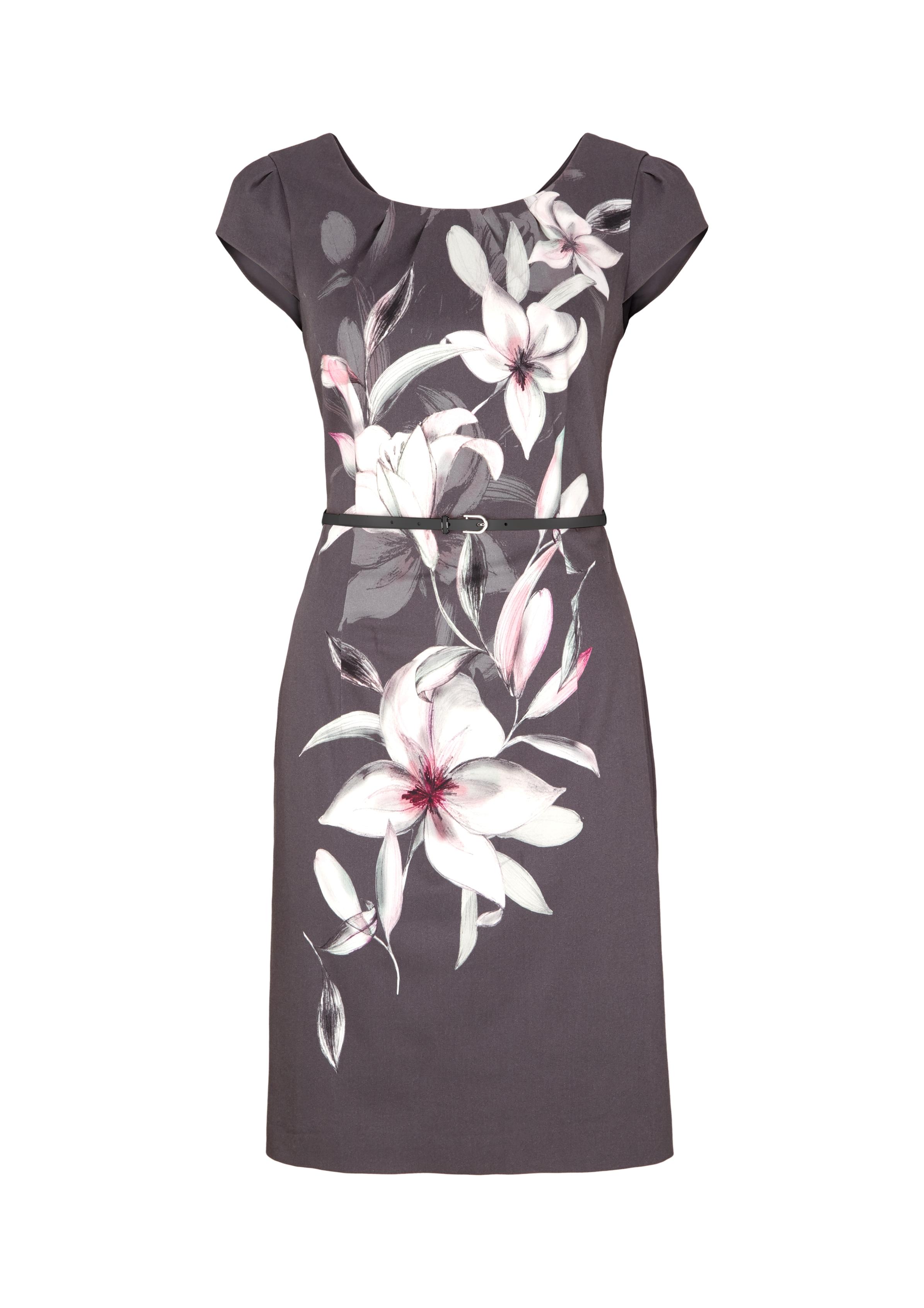Abendkleid | Bekleidung > Kleider > Abendkleider | Grau/schwarz | 97% baumwolle -  3% elasthan| futter: 100% polyester | comma