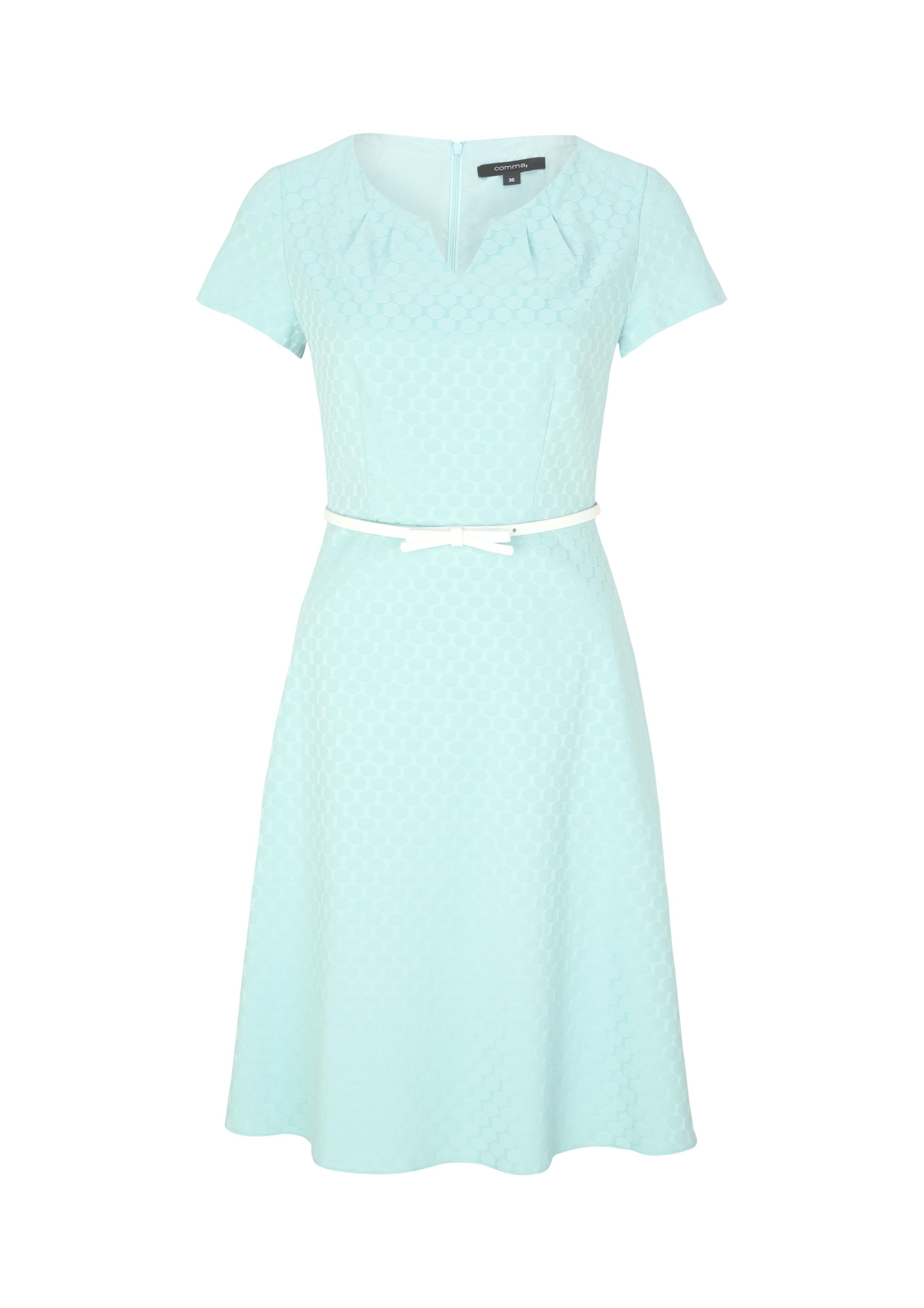 Businesskleid | Bekleidung > Kleider > Sonstige Kleider | Blau/grün | 57% baumwolle -  39% polyester -  4% elasthan| futter: 100% polyester | comma