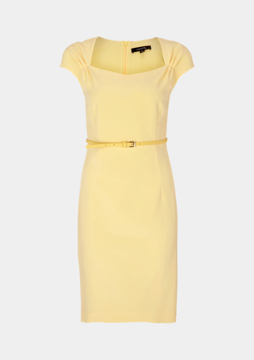 Business dress with a thin belt from comma
