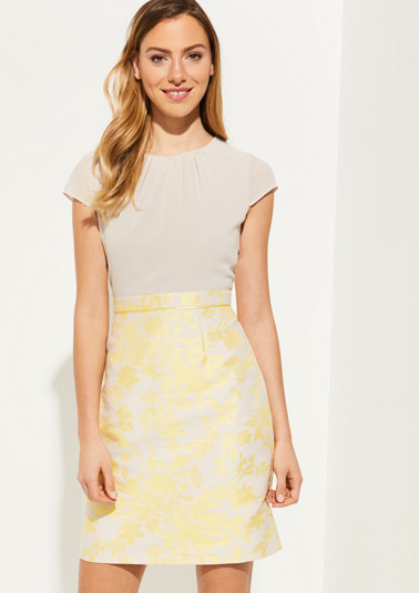 Sheath dress with a decorative jacquard pattern from comma