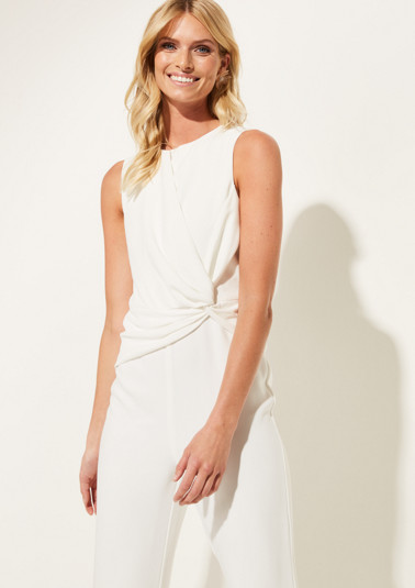 Sleeveless jumpsuit with decorative knots from comma