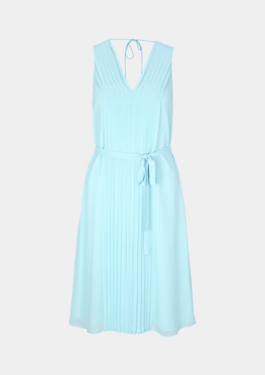 Delicate chiffon dress with plissé pleats from comma