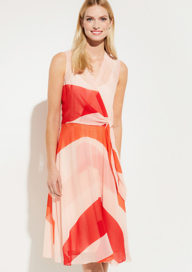 Delicate crêpe dress in a wrap-over effect from comma